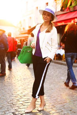 Zara jacket - Hermes bag - Zara pants - Aldo flats - Zara top