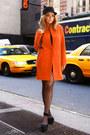 Zara-dress-zara-coat-eugenia-kim-hat-chanel-bag-topshop-heels