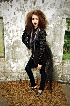 black Yanie Medina jacket