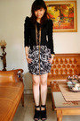 Black-unknown-top-black-unknown-skirt-black-zara-shoes-gold-forever-21-acc