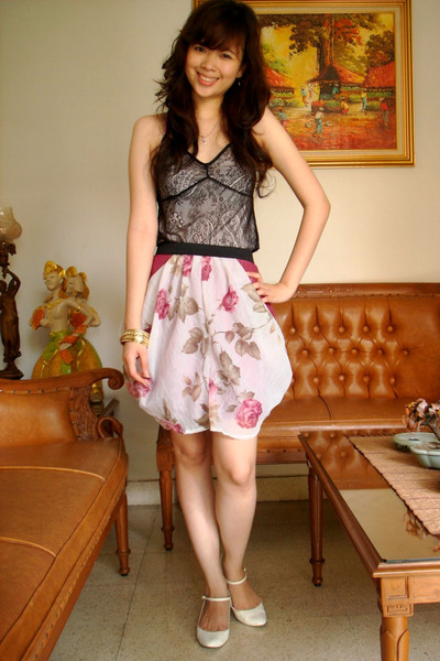 Zara top - Dbute skirt - Charles & Keith shoes - unknown brand accessories