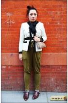 vintage shoes - vintage jacket - pouch Fendi bag - Zara pants - HUE stockings -