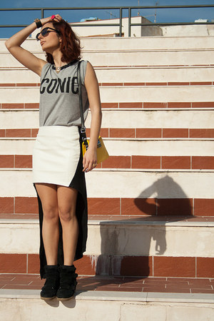 Nasty Gal skirt - Tally Weijl shirt - silvian heach bag