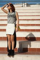 Nasty Gal skirt - Tally Weijl shirt - silvian heach bag