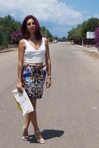 Choies skirt - Zara blouse