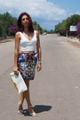 Zara-blouse-choies-skirt