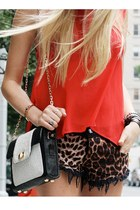 leopard print random from Hong Kong shorts - carrot orange Forever 21 shirt