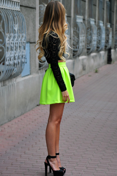 lace unknown top - Nasty Gal skirt