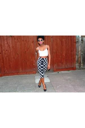 asos skirt - Topshop top - Office heels