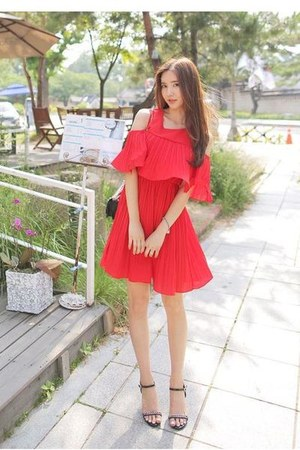 red Cherryville dress