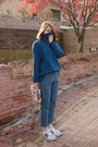 Turquoise-blue-seoul-fashion-top