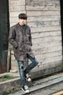 Charcoal-gray-aboki-coat