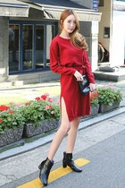 red Seoul Fashion dress