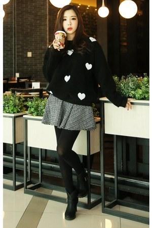 a-line tweed Cherryville skirt
