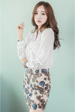 ivory WHITE FOX blouse