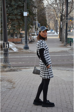 white joe fresh style dress - black leather Zara hat