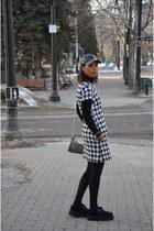 white joe fresh style dress - black leather Zara hat