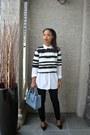 Light-blue-faux-leather-zara-bag-black-twik-blouse
