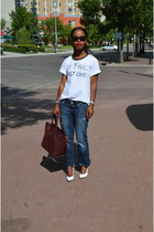 Celine bag - Guess jeans - Zara t-shirt