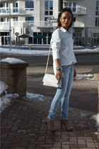sky blue denim Zara jeans - sky blue denim joe fresh style shirt