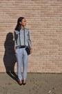 Silver-h-m-blouse-silver-zara-pants-black-christian-louboutin-heels