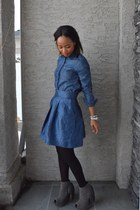 blue Zara skirt - blue joe fresh style shirt