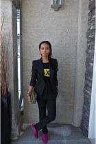 Dynamite bag - Zara suit - Gap loafers