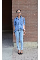 light blue denim Gap shirt - light blue denim G21 pants