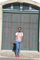 Guess jeans - material girl bag - Mango t-shirt - Zara flats