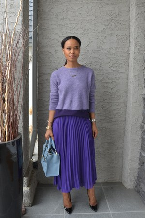 violet aliceandolivia skirt - light purple Joe Fresh sweater