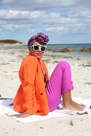 carrot orange PROENZA SCHOULER jacket - purple armani pants