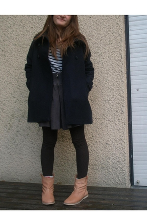sessun coat - Zara skirt - Jonak shoes