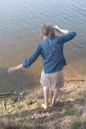 H&M blouse - Topshop skirt