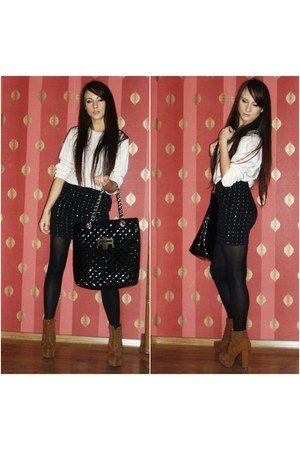SH sweater - River Island bag - H&M skirt