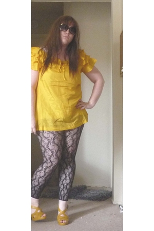 blouse - shoes - tights