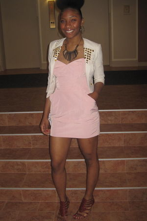 pink Forever21 dress - brown Urban Outfitters shoes