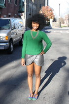 asoscom loafers - Zara sweater - Zara skirt - Macys necklace