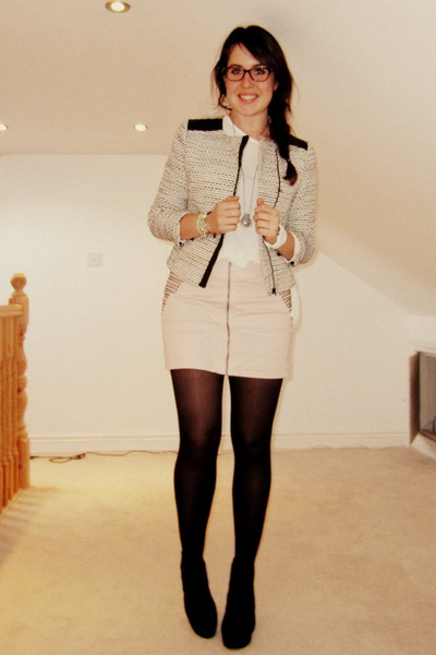 heather gray Primark jacket - black Primark boots - white Primark shirt
