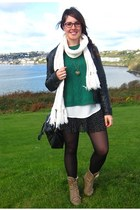 army green Primark jumper - burnt orange Mustang boots - black Zara jacket