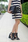Navy-striped-leather-jcrew-dress-black-quilted-ami-clubwear-bag