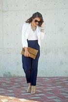 navy lace Burbu Fashion jumper - white Burlington blazer