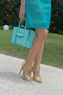 Teal-lace-speechless-dress-light-blue-mab-mini-rebecca-minkoff-bag