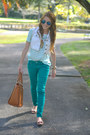 Green-charlotte-russe-jeans-tawny-marshalls-bag-bronze-bow-jcrew-flats