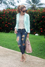 Blue-distressed-579-jeans-light-blue-burlington-blazer