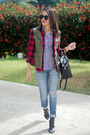 Ruby-red-buffalo-plaid-marshalls-shirt-black-gingham-ralph-lauren-shirt