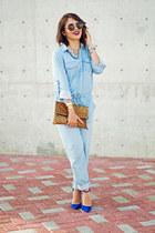 blue Schutz heels - tawny leopard print Etsy bag