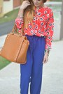 Orange-floral-juicy-couture-shirt-tawny-studded-tj-maxx-bag