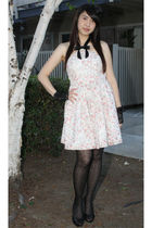 Rodarte dress - black Forever21 hat - black Forever21 tights - black Nine West s