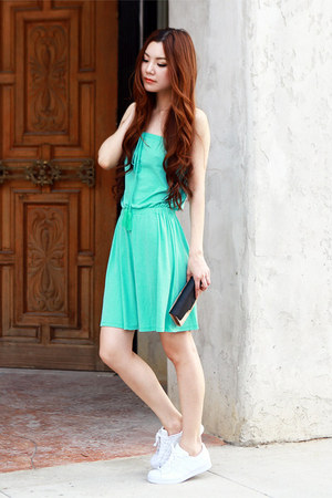 aquamarine asoscom dress - white Adidas sneakers