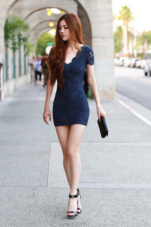 navy lace Urban Outfitters dress